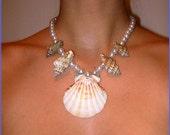 Mermaid Scallop Pendant Necklace
