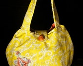 Yellow Pleated Shoulder Bag