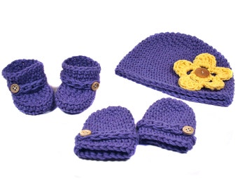 PATTERN Baby Hat / Booties / Mitts Set