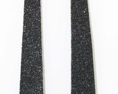 Black Glitterati Leather Earrings
