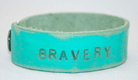 Turquoise Bravery Petite Cuff