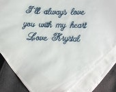 Father of the Bride Hankie Personalized Embroidered