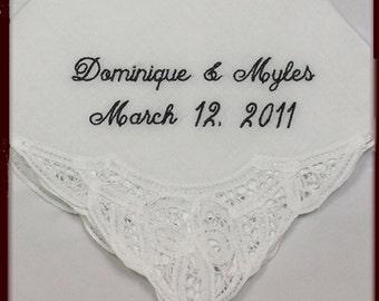 Bridal Shower Gift for Bride Wedding Handkerchief