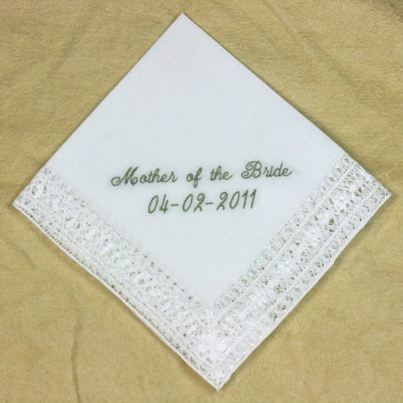 Mother of the Groom Hankie Personalized Embroidered H8152