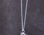 Sweet Sterling Silver Bicycle Necklace