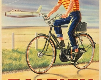 Raleigh Bicycle Poster (#1434) 6 sizes