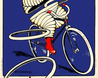 Michelin Bicycle Poster (#0500) 6 sizes