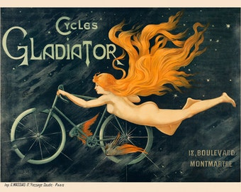 Cycles Gladiator Bicycle Poster (#0100) 6 sizes