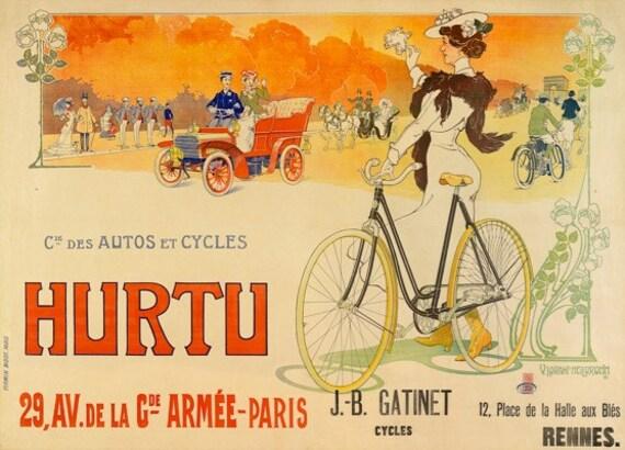 Hurtu Bicycle Poster (#1458) 6 sizes