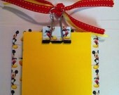 Mickey mouse post it note holder with magnets