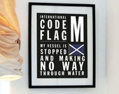 Signal Sailing Flag - Letter M - My Vessel is stopped and making no way through water - Buy 3 get the 4th free - International Code Flag