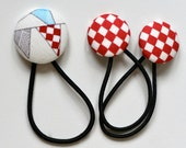 Bunting Hair Ties / Elastics Set - Reunion by Sweetwater - Flags Pennants - Red White Blue