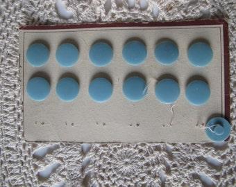 Set of 13 vintages blues buttons