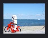 Fun, Kitsch and Geeky Lego Stormtrooper Starwars Print 8 x 10 Beach Fun Lego Lovers original photograph