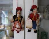 Sale 2 Little Folk Dolls Hanging Out Together