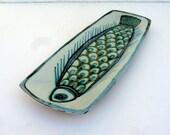 mid century ceramic fish dish