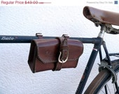 ON SALE vintage bicycle leather bag