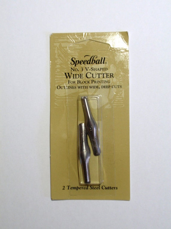 Speedball linoleum cutter no v shaped rubber stamp carving