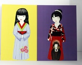 Kokeshi Postcards - special item for A Beautiful Idea