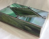 Stained Glass Jewelry Box - Gorgeous Green