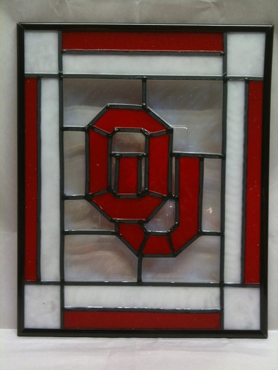 Stained Glass Oklahoma University Sooners Ou Faux