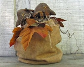 Primitive Crows, Bag of Crows, Primitive Fall Home Decor, Primitive Crow Shelf Sitter, Autumn Leaves Fall Decoration, Country Crows
