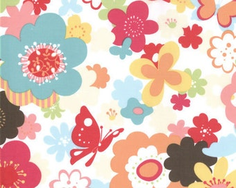END of BOLT ~ 1yd 13 in ~ SALE Just Wing It by Momo for Moda Fabrics Flower Garden in Multi 32441 13