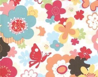 SALE Just Wing It by Momo for Moda Fabrics Flower Garden in Multi 32441 13 One Yard