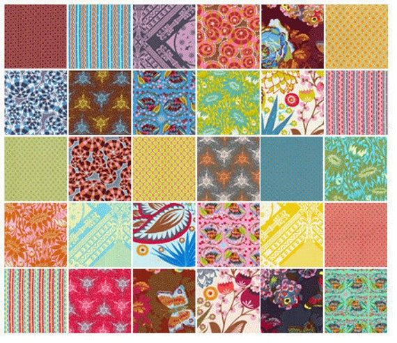 LouLouThi 6 inch Charm Pack 30 squares Anna Marie Horner HTF OOP hard to find