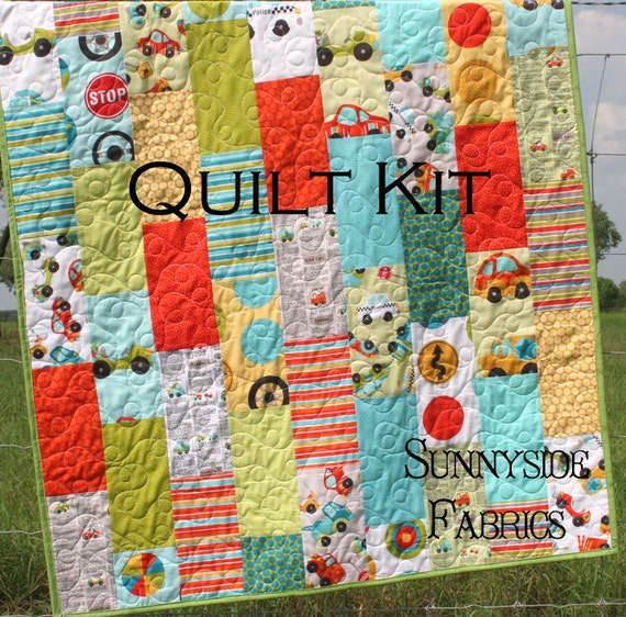 Quilt Kit Peak Hour Baby Boy Crib Pathway Quilt Pattern Backing Included LAST ONE