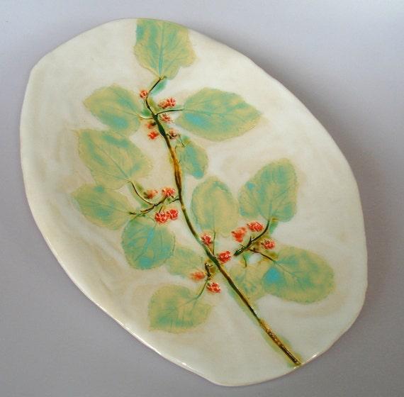 Botanical Serving Platter for Entertaining
