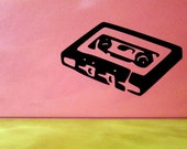 Retro Cassette Tape Decal Laptop Sticker