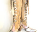 SteamPunk/Neo-Victorian whimsical Lace-Up Boots Sz. 8.5