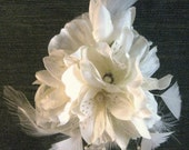 Bridal/Wedding Cream flower hair clip