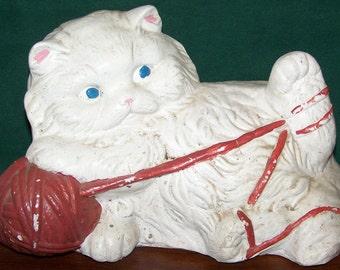 Vintage Carnival Chalkware Cat Bank