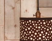 Pendant Lighting With Chocolate Fabric Drum Shade