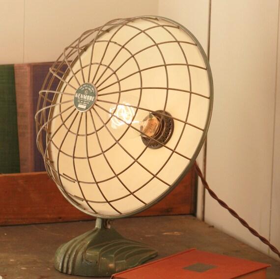 Lamp Made From Vintage Heat Lamp - Rustic Lamp - OOAK