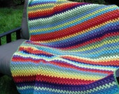 Colorful Granny Stripe Bedcover