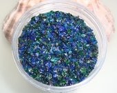 Meadowlands Frit Blend for Lampwork Bead Making 96 CoE Silver Iris Glass Green Blue Aventurine - Available in 2 sizes.