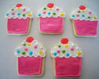 Polka Dot Cupcake Cookies