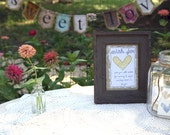 alternative guest book-  50 wish jar cards and a wish jar sign