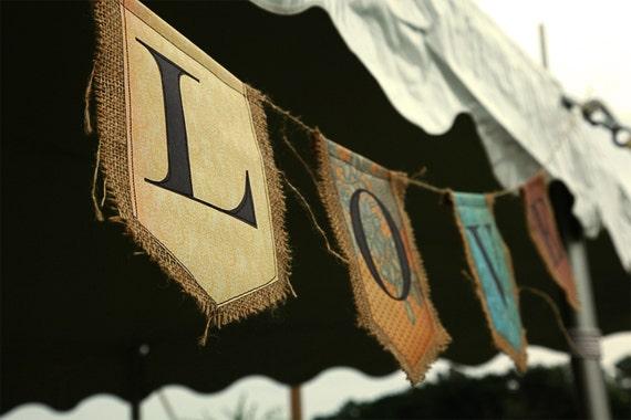 Custom banner eight pendants