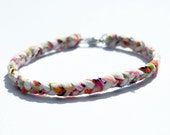 Summer Braided Fabric Bracelet with lobster clasp