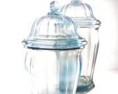 Vintage Blue Apothecary Jar Set