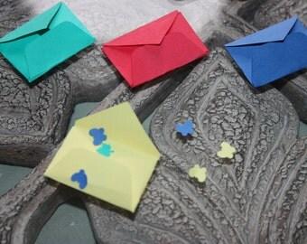 40 Mini Envelopes Confetti/Scrapbooking Embellishments