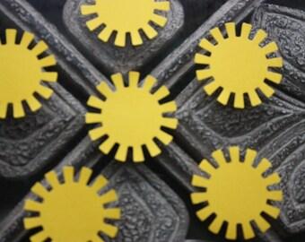 60 Sun Confetti/Scrapbooking Embellishments