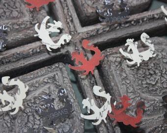 100 Venetian Gondola/ Boat Confetti/Scrapbooking/Embellishments/Die cut/Cutout