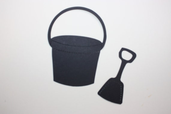 10 Pail and Shovel Die Cut  CHOOSE COLORS