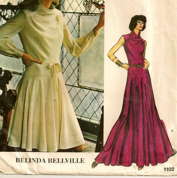 "1970s Vogue Couturier Dress Pattern - Size 10, Bust 32-1/2"""