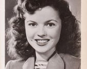 Vintage Shirley Temple Actress Headshot Promo Photo